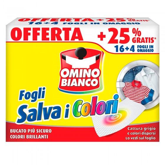 Omino Bianco Fogli Salva i Colori - Confezione da 20 Pezzi