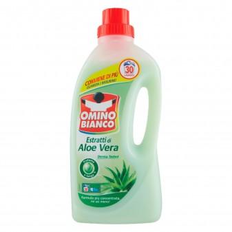 Omino Bianco Estratti di Aloe Vera Detersivo Liquido - Flacone da 1,5 Litri