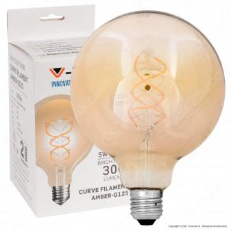 V-Tac VT-2085 Lampadina LED E27 5W Globo G125 Filamento Ambrata - SKU 7216