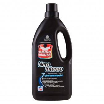 Omino Bianco Nero Intenso Detersivo Liquido Per Lavaggi a Mano o in Lavatrice - Flacone da 1 Litro