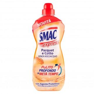 Smac Express Detergente Liquido Pavimenti per Parquet e Cotto - Flacone da 1 Litro