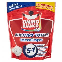 Omino Bianco 100 Più Additivo Totale Idrocaps 5in1 - Confezione da 12 Capsule