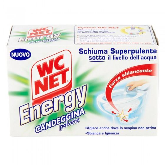 WC Net Energy Candeggina in Polvere Schiumogena Sbiancante e Igienizzante - Confezione da 4 Buste