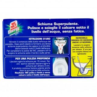 WC Net Energy Disincrostante in Polvere Schiumogena Deterge e Scioglie il Calcare - Confezione da 4 Buste