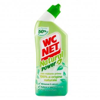 WC Net Natural Power Gel Igienizzante e Anticalcare con Ingredienti 100% di Origine Naturale - Flacone da 700ml
