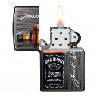 Accendino Zippo Mod. 49321 Jack Daniel's® - Ricaricabile Antivento