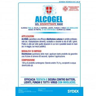 Gel Disinfettante Mani Professionale Igienizzante - Presidio Medico Chirurgico Efficace Contro Virus - Flacone da 1 Litro