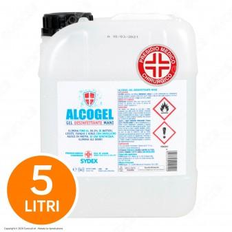 Gel Disinfettante Mani Professionale Igienizzante - Presidio Medico Chirurgico Efficace Contro Virus - Tanica da 5 Litri