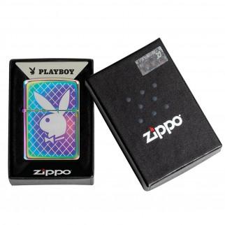 Accendino Zippo Mod. 49344 Playboy - Ricaricabile Antivento