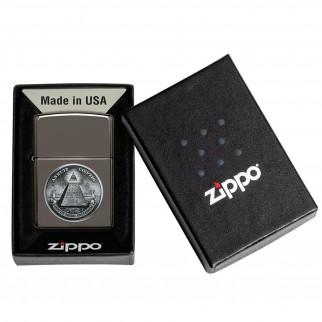 Accendino Zippo Mod. 49395 Dollar - Ricaricabile Antivento