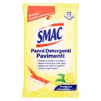 Smac Panni Detergenti Pavimenti Profumo di Limone - Confezione da 12 Panni