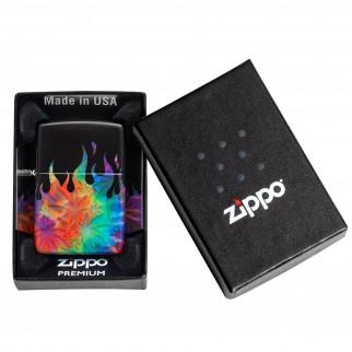 Accendino Zippo Mod. 49534 Leaf - Ricaricabile Antivento