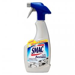 Smac Brilla Acciaio Detergente Spray con Azione Anticalcare e Lucidante e Barriera Protettiva - Flacone da 500ml