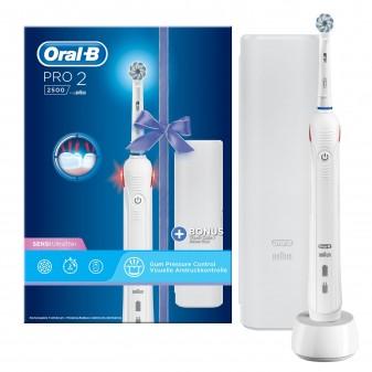 Oral-B Pro 2 2500 Spazzolino Elettrico Ricaricabile con Testina Sensi UltraThin