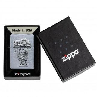 Accendino Zippo Mod. 49536 Dead Man's Hand Emblem - Ricaricabile Antivento