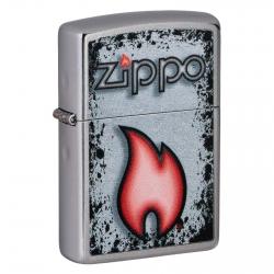 Accendino Zippo Mod. 49576 Zippo Flame - Ricaricabile Antivento