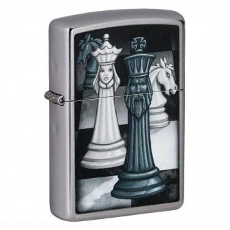 Accendino Zippo Mod. 49601 Chess Game - Ricaricabile Antivento