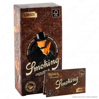 A00021007 - Cartine Smoking Brown Senza Cloro Corte Doppie - Scatola da 25 Libretti