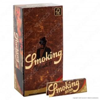 A00021011 - Cartine Smoking Brown Senza Cloro Corte - Scatola da 50 Libretti