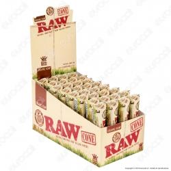 Coni Raw Organic Hemp King Size Cartine Lunghe Prerollate con Filtro - Scatola da 32 Pacchetti