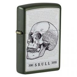 Accendino Zippo Mod. 49602 Skull - Ricaricabile Antivento