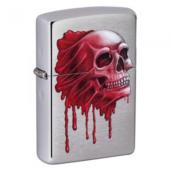 Accendino Zippo Mod. 49603 Skull - Ricaricabile Antivento
