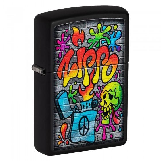 Accendino Zippo Mod. 49605 Street Art - Ricaricabile Antivento