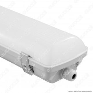 V-Tac VT-558 Tubo LED Plafoniera 58W Lampadina 150cm Impermeabile con Kit di Emergenza - SKU 7028 / 7029