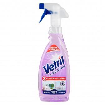Vetril con Antipolvere e Azione Antistatica Detergente Spray - Flacone da 650ml