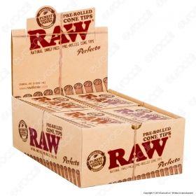 Raw Cone Tips Filtri in Carta per Coni - Scatola da 24 libretti.