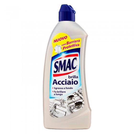Smac Brilla Acciaio Detergente in Crema con Azione Anticalcare e Lucidante e Barriera Protettiva - Flacone da 500ml
