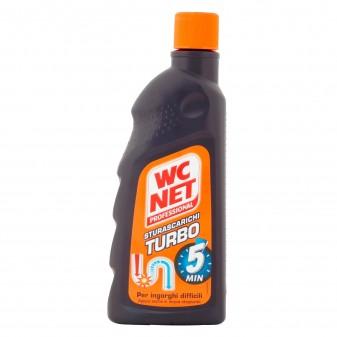 WC Net Professional Sturascarichi Turbo Gel Disgorgante Monodose - Flacone da 500ml