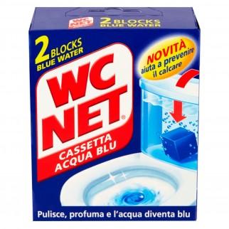 WC Net Cassetta Acqua Blu Detergente in Blocchi - Confezione da 2 Pezzi