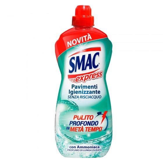 Smac Express Igienizzante Detergente Liquido per Pavimenti con Ammoniaca - Flacone da 1 Litro