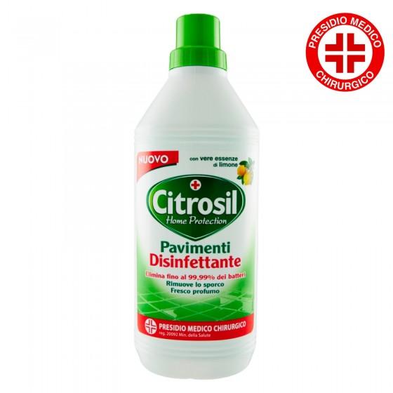 Citrosil Detergente Pavimenti Disinfettante con Essenze di Limone Presidio Medico Chirurgico - Flacone da 900ml