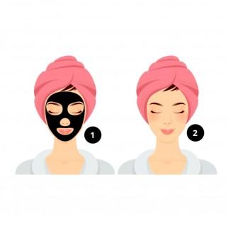 MyMask Black Detox Trattamento Purificante Maschera Recharge e Siero Emolliente - Confezione da 1 trattamento
