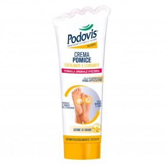 Podovis Crema Pomice Esfoliante e Levigante per Callosità con Olio di Germe di Grano e Mentolo - Flacone da 100 ml