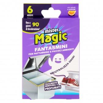 Mister Magic Fantasmini Adesivi Profumati per Pattumiere e Piccoli Ambienti