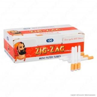 PROV-B00054005 - Zig Zag Mini Tubetti Corti con Filtro - Box da 100 Sigarette Vuote
