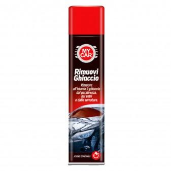 My Car Rimuovi Ghiaccio Spray ad Azione Istantanea con Erogatore Removibile - Flacone da 400ml