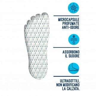 Podovis Solette Anti-Odore Fresh con Microcapsule Profumate Taglia Large 42-44 - Confezione da 4 Paia