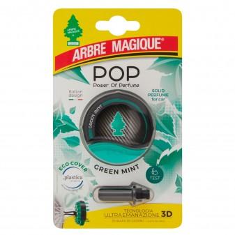 Arbre Magique Pop Profumatore Solido per Auto Fragranza Green Mint Lunga Durata