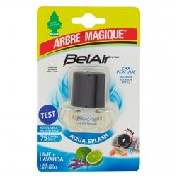 Arbre Magique BelAir Acqua Splash Ricarica per Profumatore per Auto Fragranza Lime e Lavanda