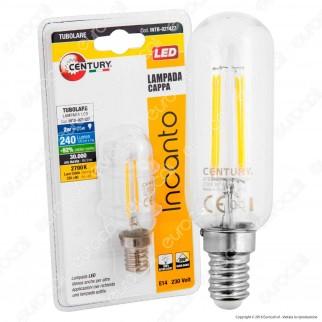 Century Incanto Lampadina LED E14 2W Tubolare a Filamento