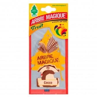 Arbre Magique Fruit Profumatore Solido per Auto Fragranza Cocco Lunga Durata