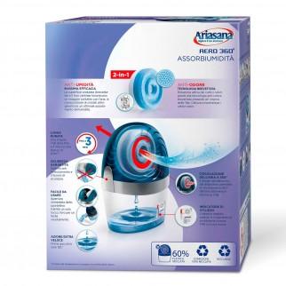 Ariasana Aereo 360° Assorbiumidità e Anti Odore Non Elettrico - Confezione con 1 Tab di Ricarica alla Lavanda