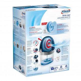 Ariasana Aereo 360° Assorbiumidità e Anti Odore Non Elettrico Massima Efficacia - Confezione con 1 Tab di Ricarica