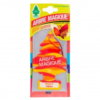 Arbre Magique Mediterraneo Profumatore Solido per Auto Fragranza Mango e Papaya Lunga Durata