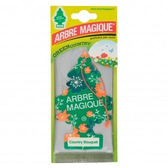 Arbre Magique Green Country Profumatore Solido per Auto Fragranza Country Bouquet Lunga Durata