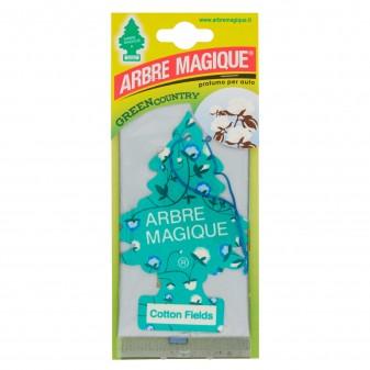 Arbre Magique Green Country Profumatore Solido per Auto Fragranza Cotton Fields Lunga Durata